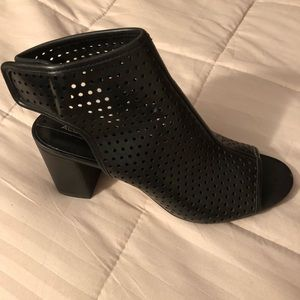 Black Leather Aldo Booties